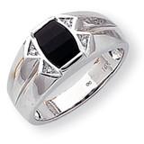 Diamond men's ring 14k White Gold Y1562AA
