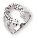 Diamond men's ring 14k White Gold Y1567AA