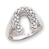 Polished Mens Diamond Ring Mounting 14k White Gold Y1568