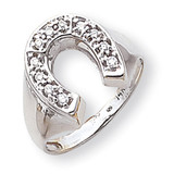 Diamond men's ring 14k White Gold Y1568AA