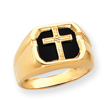 Men's Cross Ring Mounting 14k Gold Y1572
