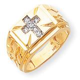 Diamond men's ring 14k Gold Y1573AA