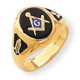 Men's Masonic Ring 14k Gold Y1581M