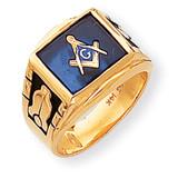 Men's Masonic Ring 14k Gold Y1590M
