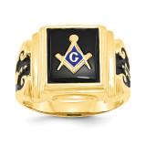 Men's Masonic Ring 14k Gold Y1593M