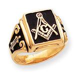 Men's Masonic Ring 14k Gold Y1594M