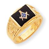 Men's Masonic Ring 14k Gold Y1595M