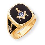 Men's Masonic Ring 14k Gold Y1596M