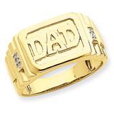 Diamond men's ring 14k Gold Y1605AA