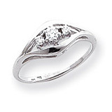 0.14ct. Diamond Ring Mounting 14k White Gold Y1632