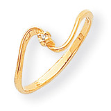 0.01ct. Diamond Ring Mounting 14k Gold Polished Y1716