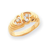 0.05ct. Diamond Heart Ring Mounting 14k Gold Polished Y1723