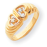 Diamond Heart Ring 14k Gold Polished Y1723AA