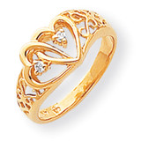 Diamond heart ring 14k Gold Y1729AA
