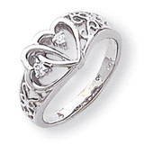 Diamond heart ring 14k White Gold Y1730AA