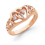 Diamond heart ring 14k Rose Gold Y1731AA