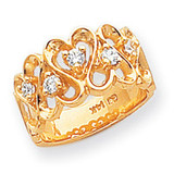 0.30ct. Diamond Heart Ring Mounting 14k Gold Polished Y1735
