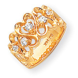 Diamond heart ring 14k Gold Y1735AA