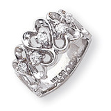 Diamond heart ring 14k White Gold Y1736AA