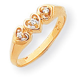Diamond heart ring 14k Gold Y1738AA