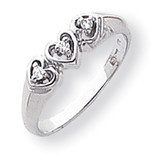 Diamond heart ring 14k White Gold Y1739AA