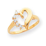 0.14ct. Diamond Heart Ring Mounting 14k Gold Polished Y1755