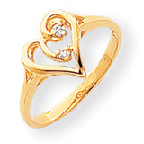 Diamond heart ring 14k Gold Polished Y1774AA