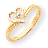 Diamond heart ring 14k Gold Polished Y1780AA