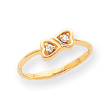 0.05ct. Diamond Heart Ring Mounting 14k Gold Polished Y1792