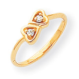 Diamond heart ring 14k Gold Polished Y1792AA