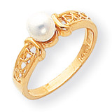 Cultured Pearl Diamond Cultured Pearl ring 14k Gold Y1847PL
