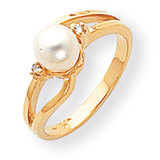 Cultured Pearl Diamond Cultured Pearl ring 14k Gold Y1853PL/AA
