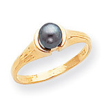 Cultured Pearl Ring Mounting 14k Gold Polished Y1855