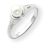 5mm Cultured Pearl Ring 14k White Gold Y1856PL