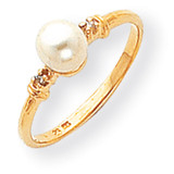Cultured Pearl Diamond Cultured Pearl ring 14k Gold Y1859PL/AA