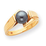 Cultured Pearl Ring Mounting 14k Gold Polished Y1867