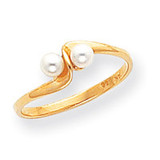 Cultured Pearl Ring Mounting 14k Gold Polished Y1873