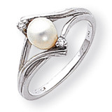 Cultured Pearl Diamond Cultured Pearl ring 14k White Gold Y1882PL/AA