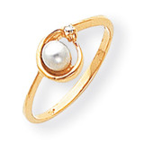 Cultured Pearl Diamond Cultured Pearl ring 14k Gold Y1890PL/AA
