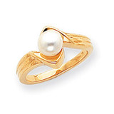 Cultured Pearl Ring Mounting 14k Gold Polished Y1912