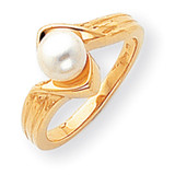 Cultured Pearl Diamond Cultured Pearl ring 14k Gold Y1912PL