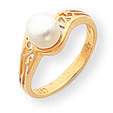 Cultured Pearl Diamond Cultured Pearl ring 14k Gold Y1918PL