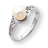 Cultured Pearl Diamond Cultured Pearl ring 14k White Gold Y1919PL