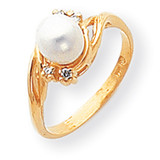 Cultured Pearl Diamond Cultured Pearl ring 14k Gold Y1923PL/AA