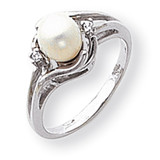 Cultured Pearl Diamond Cultured Pearl ring 14k White Gold Y1925PL/AA