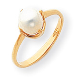 6.5mm Cultured Pearl ring 14k Gold Y1926PL