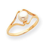 Cultured Pearl Ring Mounting 14k Gold Polished Y1938