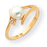 Cultured Pearl Diamond Cultured Pearl ring 14k Gold Y1946PL/AA