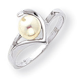 Cultured Pearl Diamond Cultured Pearl ring 14k White Gold Y1990PL