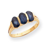 6x4mm Oval Sapphire ring 14k Gold Y2034S